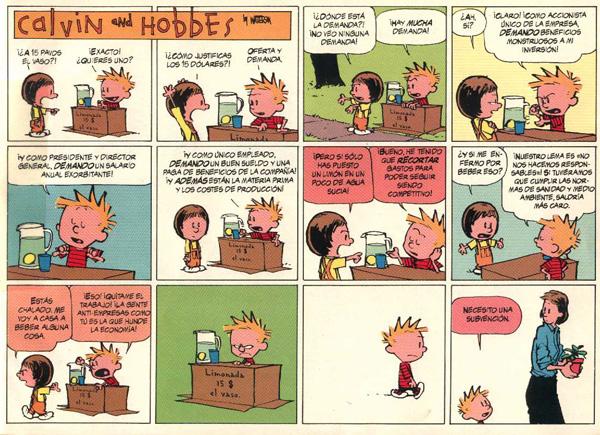 tira de Calvin y Hobbes